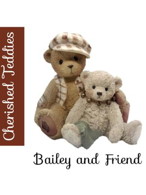 "Cherished Teddies Bailey & a Friend Initial Production Run 1999 ""The Only Thing More Contagious Than a Cold Is A Best Friend"". SHIPPING ONLY!!! for Sale in Colorado Springs, CO"