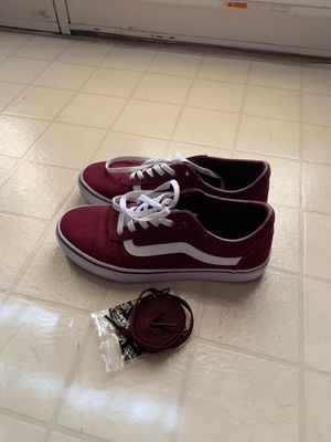 Women's Size 9.5 Maroon Vans with extra laces for Sale in Hagerstown, MD