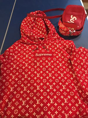 Louis Vuitton supreme hoodie 100% authentic for Sale in Chicago, IL