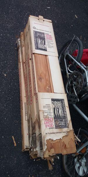 Five boxes of 15 square feet each box of Closet Cedar line for Sale in Newport News, VA