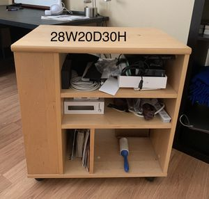 Danish made maple media printer cart for Sale in Louisville, CO
