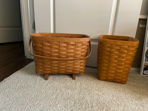 Longaberger baskets - 1990 and 1995 for Sale in Indianapolis, IN