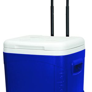 Ice Cube Roller Cooler 60 Quart Durable Wheels Tow Handle Reinforced Blue Ocean for Sale in Stockton, CA