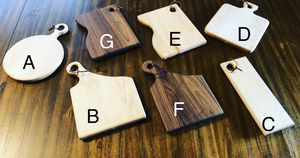 Maple cutting board (A-E) and Walnut cutting board (F-G) for Sale in Ceres, CA