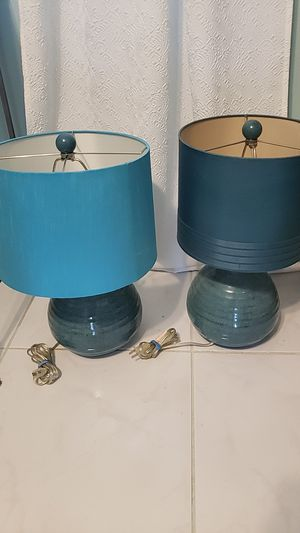 2 Teal Lamps for Sale in Deerfield Beach, FL