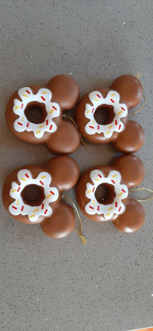 4 Mickey Mouse Donuts Christmas ornaments for Sale in Pomona, CA