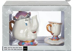 Disney Mrs Potts Tea pot With Chip tea cup and saucer. for Sale in Bloomington, CA