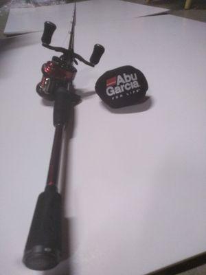 Brand New $550+ Abu Garcia 10.1:1 Revo Rocket Bait Casting reel, RIGHT HANDED, & veracity 7' long 1-piece rod for Sale in Reno, NV