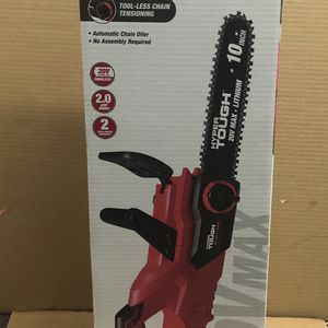 "Chainsaw Hyper Tough 20v 10"" Battery & Charger Included Chain Saw for Sale in Fort Lauderdale, FL"