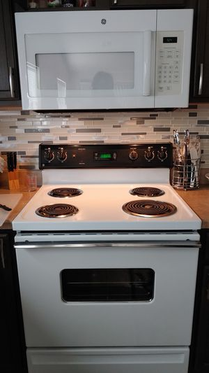 GE electric range GE microwave Amana Dishwasher for Sale in ELEVEN MILE, AZ