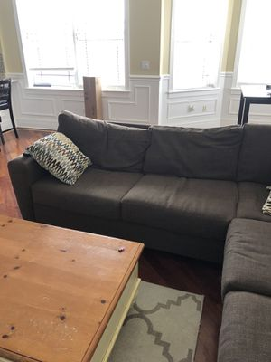 Large Brown Sectional Couch for Sale in Chicago, IL