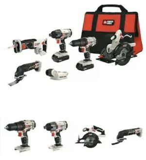 PORTER-CABLE 6-Tool 20-Volt Max Power Tool Combo Kit with Soft Case for Sale in West Covina, CA
