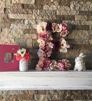 Custom made wood flower letter, baby nursery decor, baby shower decor, bridal shower decor, first birthday prop, baby girl, nursery decor, girls room for Sale in San Diego, CA