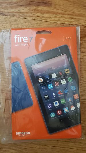 """NEW Amazon Fire 7 Tablet With Alexa 7"""" Display 8 GB 7th Generation Marine Blue. for Sale in Skokie, IL"""