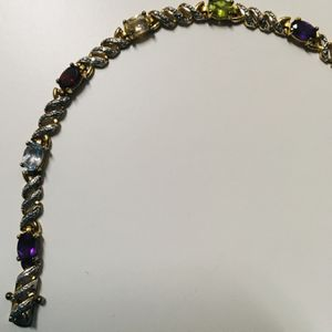 Gold plated over 925 Sterling Silver with gemstones. for Sale in Austin, TX