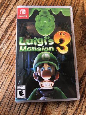 Luigi's mansion 3 for Sale in Tacoma, WA