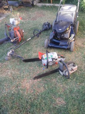 Blower weed wacker lawn mower chainsaws for Sale in Corona, CA