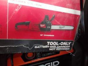Milwaukee fuel m18 chainsaw brand new unopened TOOL ONLY for Sale in West Linn, OR