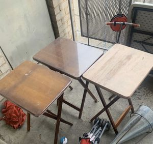 3 eating tray tables selling all three together for 8.00 for Sale in Washington, DC
