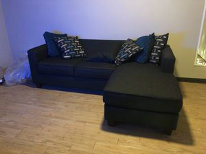 Black/gray Couch for Sale in Melbourne Village, FL