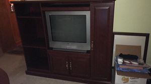 Cherry Entertainment Center with adjustable shelves for Sale in Salisbury, NC