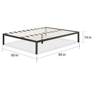 Priage queen size bed frame (Black) for Sale in Brooklyn, NY