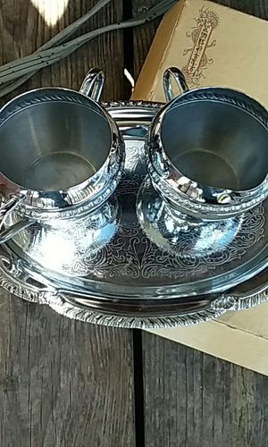 Iron ware made in usa. Plate with 2 cups. for Sale in Kingsport, TN