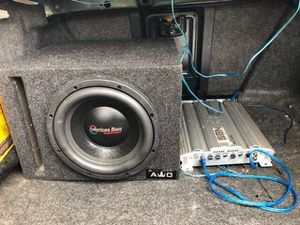 American Bass system and 800 watt amp for Sale in Cochran, GA