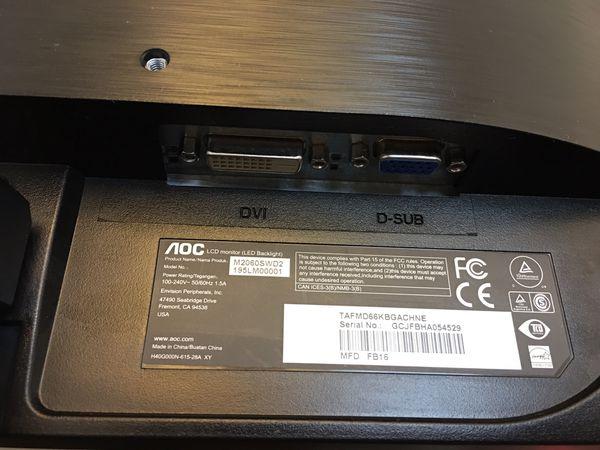 """AOC M2060SWD2 - LED monitor - Full HD (1080p) - 19.53"""""""