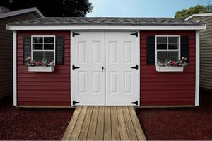 New 8' x 12' Barn Red Vinyl A Frame Shed for Sale in LYNNFIELD, MA