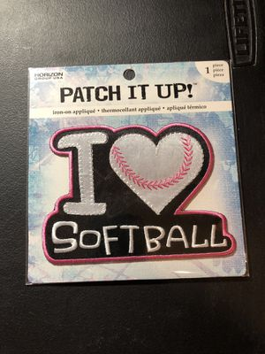 I Love Softball Iron On Patches for Sale in Rodeo, CA