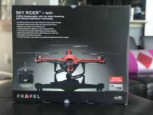 RC Drone Propel Skyrider + WIFI watch live video.including battery and remote brand new unopened box for Sale in Richmond, TX