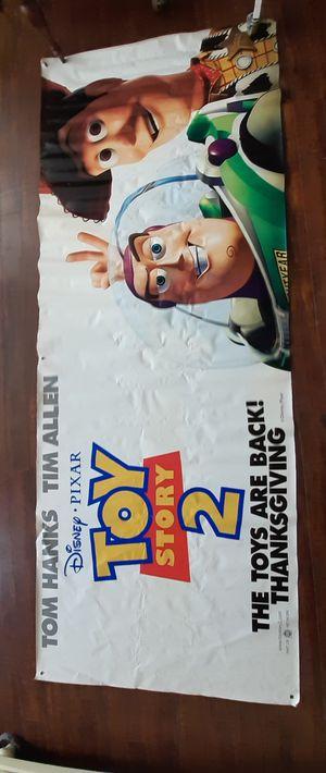 """$60 Large Disney Pixar Original Theater Banner 47"""" × 119"""" for Sale in Hemet, CA"""