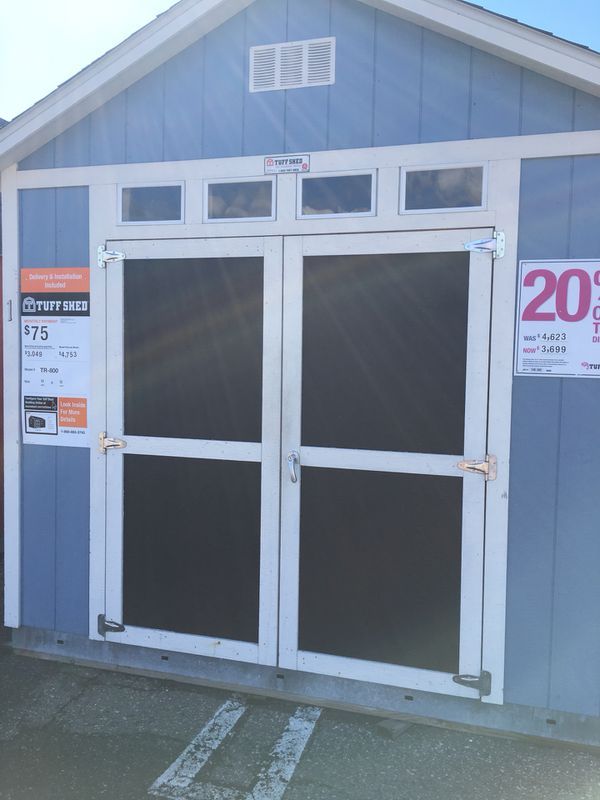 Tuff Shed TR800: Former display was $4,623 now $3,699