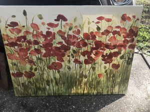Red Flower Canvas for Sale in Safety Harbor, FL