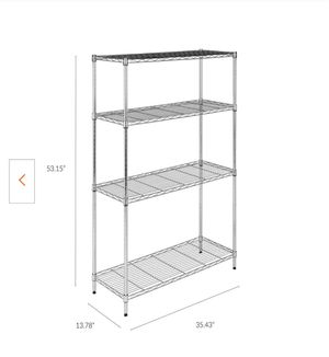 Chrome 4-Tier Steel Wire Shelving Unit for Sale in Queens, NY