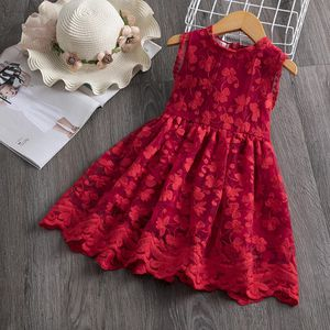 Red Kids Dresses For Girls Dress 2019 Brand Girls Clothes Lace Flower Design Tutu Birthday Party Wear Children Clothing 3 8 Year for Sale in Orlando, FL