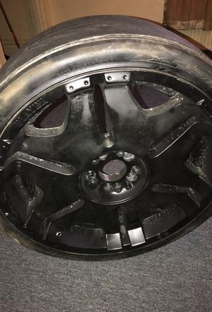 22' inch black dipped player rims for Sale in Pittsburgh, PA