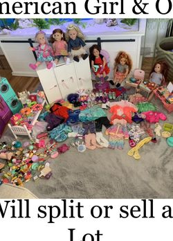 American Girl Lot Our Generation Doll Lot HUGE for Sale in Middletown,  RI
