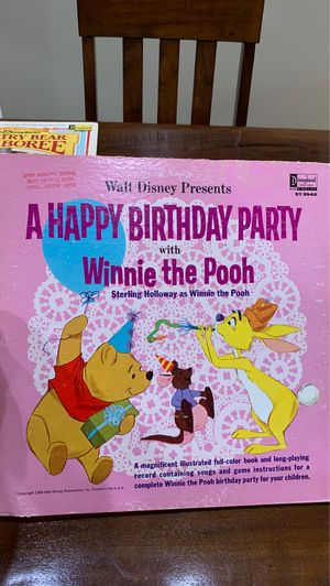 Disney A Happy Birthday Party with Winnie the Pooh for Sale in Peoria, AZ