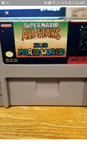 Mario all stars cartridge game for Sale in Kingsport, TN
