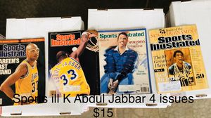Sports Illustrated Kareem Abdul Jabbar 4 issues for Sale in Wellford, SC