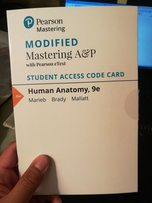 Modified Mastering A&P Access Code for Sale in Porter Ranch, CA