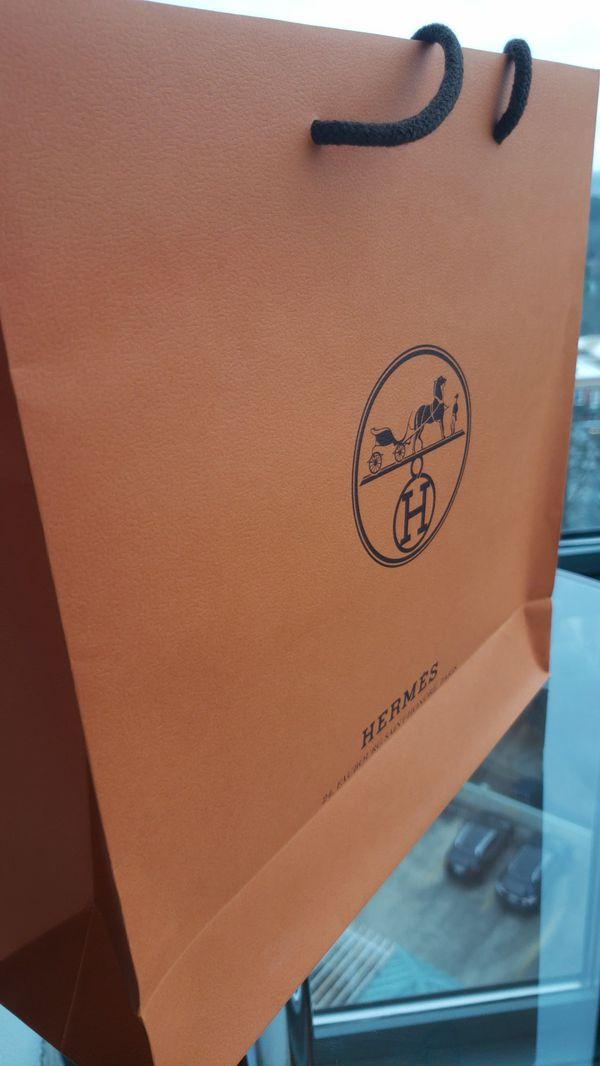 Beautiful orange Hermes bag