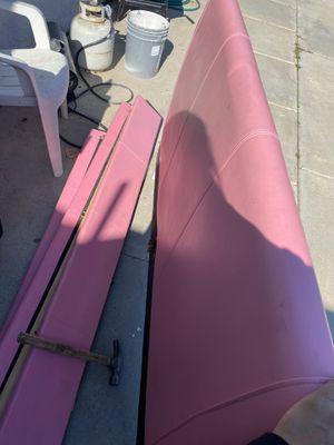 Pink bed frame full for Sale in San Jacinto, CA