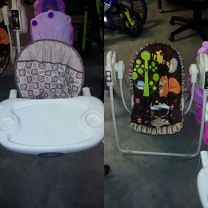 Swing & Booster Seat for Sale in St. Louis, MO