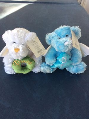 Angle teddy bears. Noel and peace. Marry Brite. Christmas gifts. Stuffed animals. Toys. for Sale in Tampa, FL