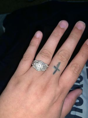 Engagement ring with wedding bands for Sale in Cairo, NE