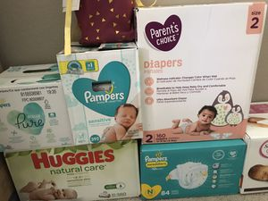 Baby wipes & diapers for Sale in Las Vegas, NV