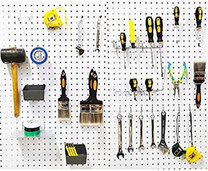 Pegboard Hooks Assortment with Pegboard Bins, Peg Locks, for Organizing Various Tools, 80 Piece.. 5unit abeleble for Sale in City of Industry, CA